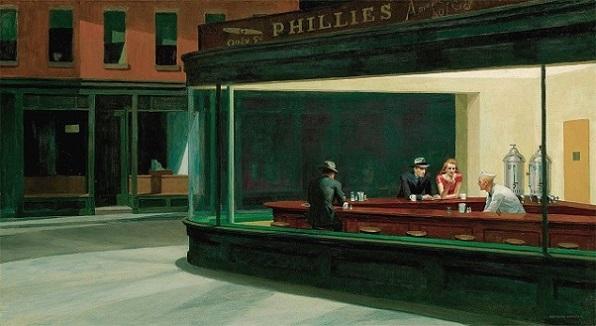 Nottambuli di Edward Hopper